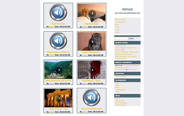 WordPress Video Theme No.2-Allmed