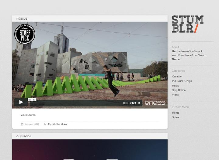 WordPress Video Theme No.5-Stumblr