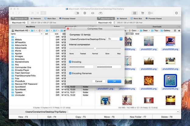 Commander One: ZIP, TBZ, TGZ and 7Z Archiver for Mac