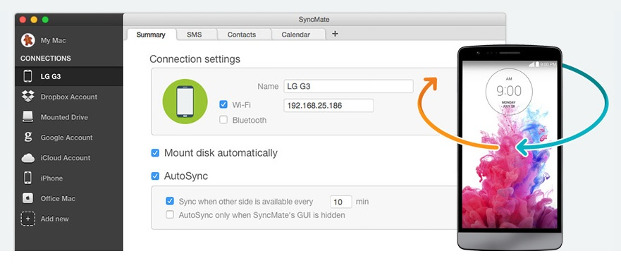 Transfer Files from Android to Mac with SyncMate