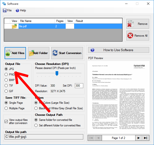 How to Easily Convert a PDF to JPG