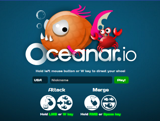 New io Game Launches: Oceanar.io