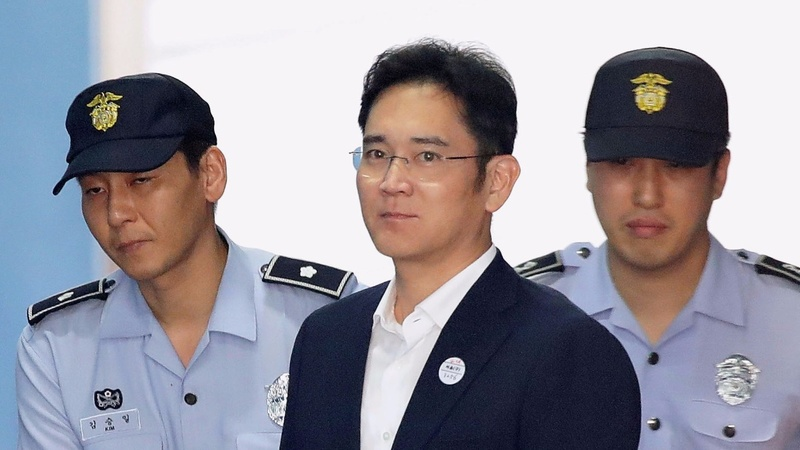 Samsung Leader Gets Five Year Sentence