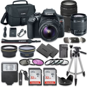 Canon EOS Rebel T6 DSLR Camera Bundle with Canon EF-S 18-55mm