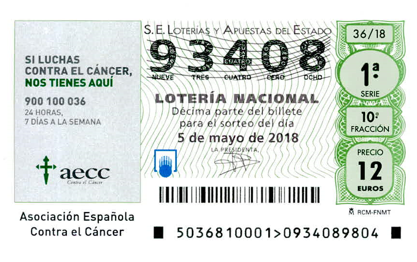"Spanish Charity Raffle ""Contra el Cancer"""